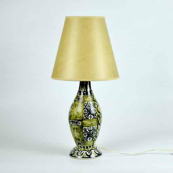 divine style french antiques keraluc quimper lamp A Horellou 1970s 1