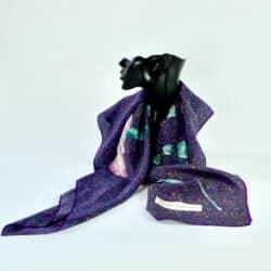 divine style pierre balmain silk scarf purple