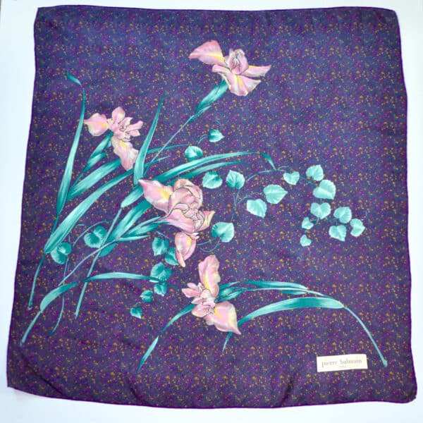 divine style pierre balmain silk scarf purple 1