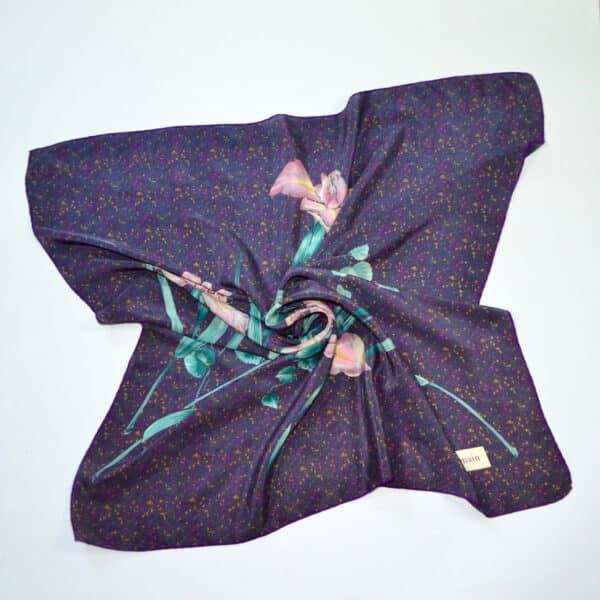 divine style pierre balmain silk scarf purple 2