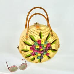 divine style french antiques vintage 1950s raffia beach bag