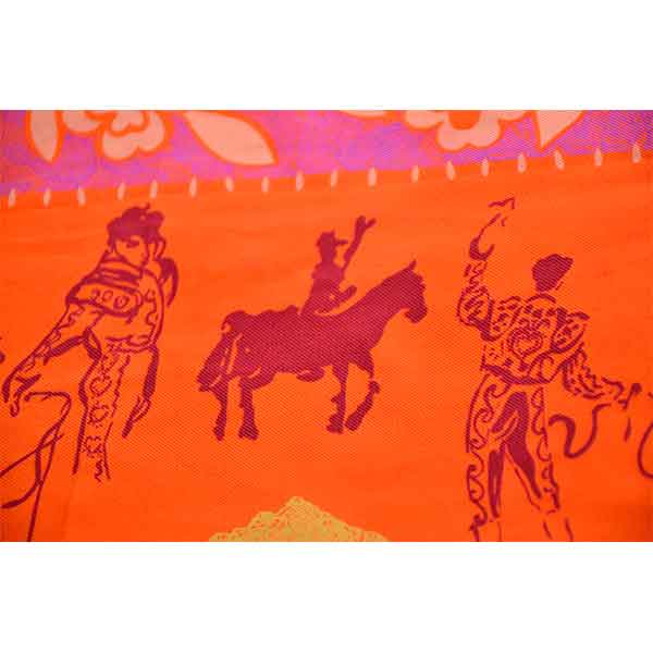 France-Christian-Lacroix-Paris-vintagesilk-scarf-bullfighting-theme-04