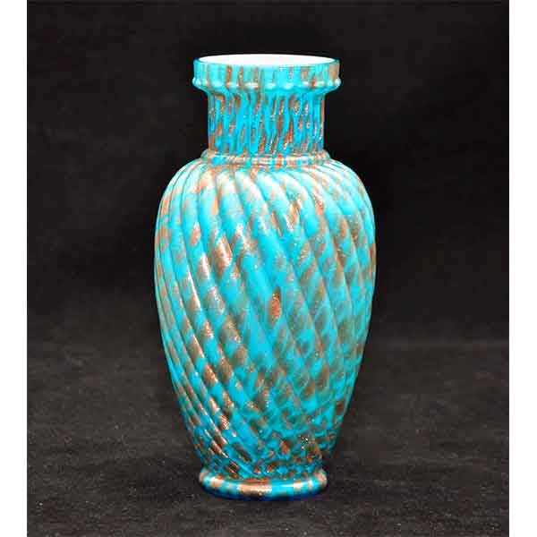 Antique Svres Cased Glass Vase With Aventurine Decor Divine Style