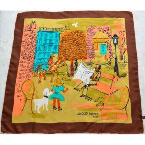 Jacques-Griffe-Paris-1950sFrench--silk-scarf-Paris-scene-05