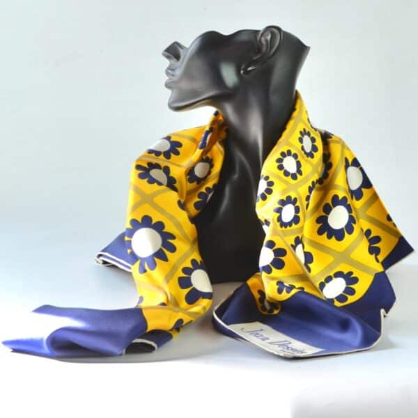 divine style Jean Dessès Op Art Paris designer silk scarf 1960s