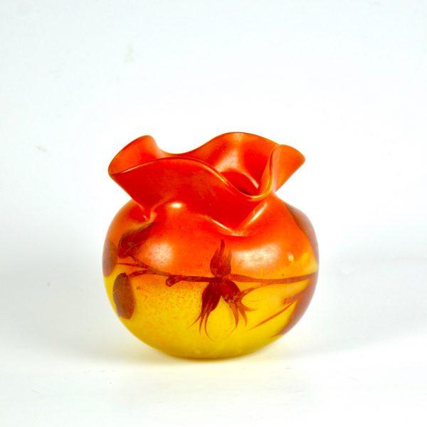divine style french antiques Legras boule vase 1