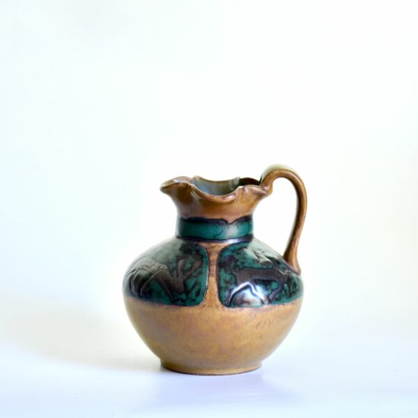 LOURIOUX-Rare-French-art-pottery-enamelled-jug-by-Louis-Lourioux-c1920-01