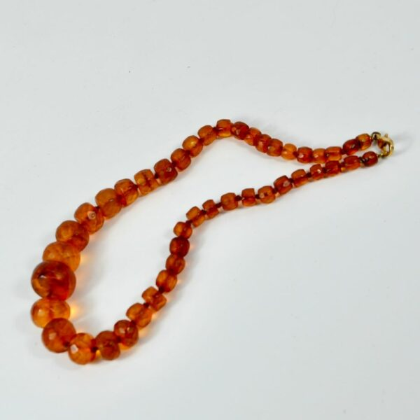 antique amber facetted bead necklace divine style french antiques 2
