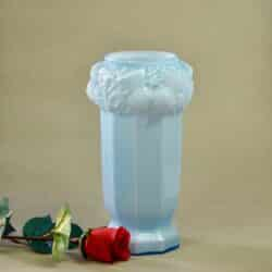 divine style french antiques French Art Deco vase blue opal glass vase Vianne 1