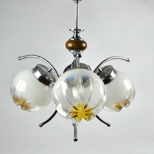 divine style mazzega murano 3 light fixture chandelier 3