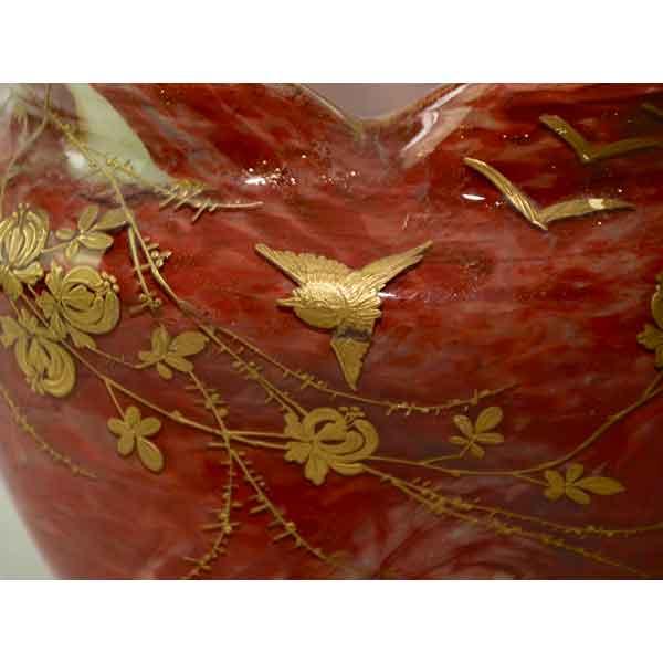 divine style french antiques legras agate glass bowl art nouveau 6