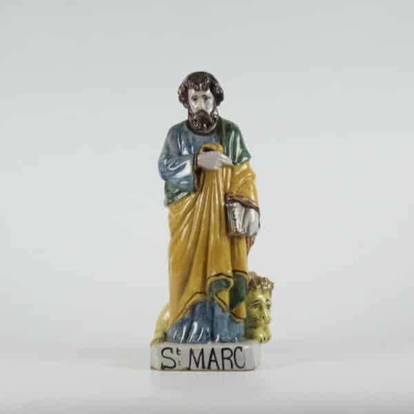 divine style french antiques 19c polychrome statue st marc