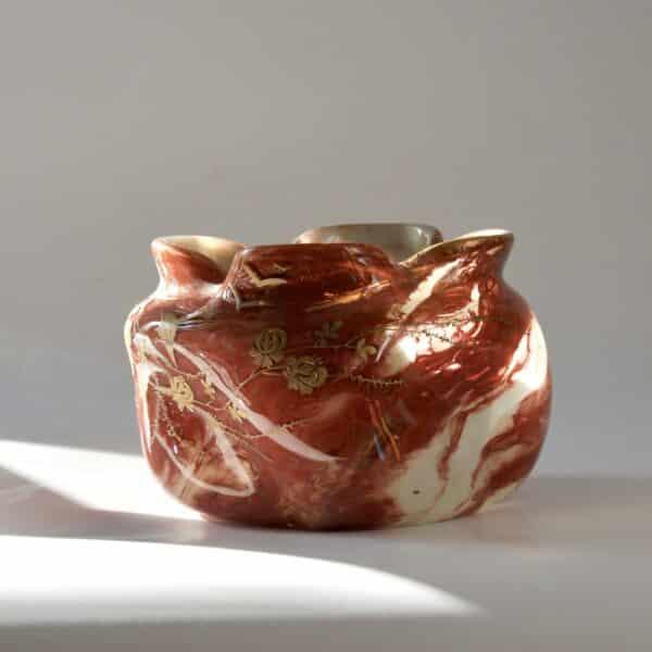 divine style french antiques legras agate glass bowl art nouveau 2