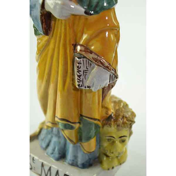 divine style french antiques Auguste Nayel Graindorge sculpture st marc 5-antique-sculpture-saint-Mark-evangelist-faience-05