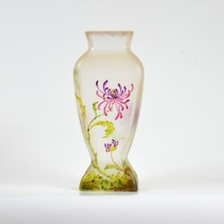 french antique vase choisy le roi art nouveau enamelled glass vase crystal 1900