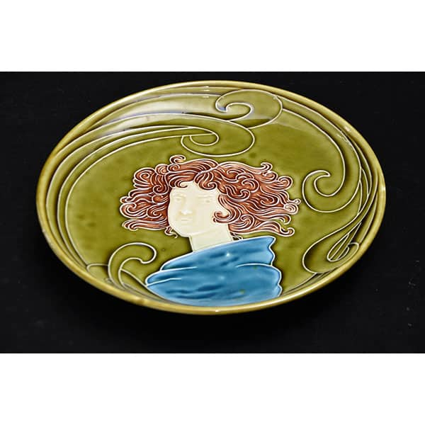 Divine-style-french-antiques-Majolica-Arts-Crafts-Plate-03