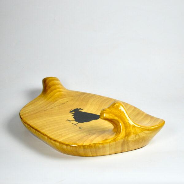 divine style Grandjean Jourdan Vallauris Faux-Wood Ceramic Platter 2