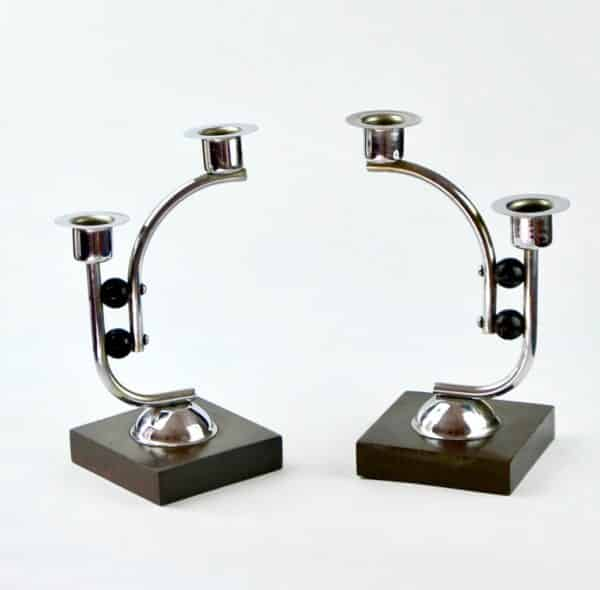 Divine_style-french-antique-Art-Deco-wood-chrome-candlesticks-02