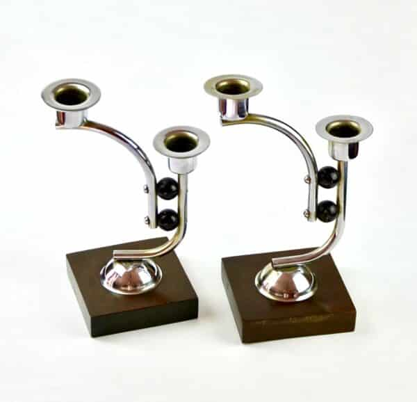 Divine_style-french-antique-Art-Deco-wood-chrome-candlesticks-03