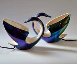 verceram vintage lamp swan
