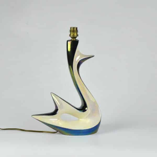 divine style french antiques verceram swan lamp 8