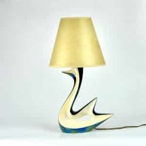 divine style french antiques verceram swan lamp 5