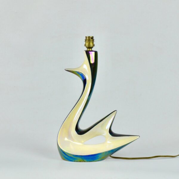 divine style french antiques verceram swan lamp 6