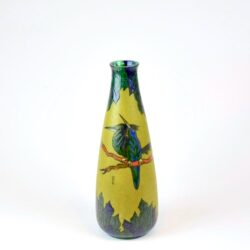 leune french art deco art nouveau vase enamel glass daum french 1930s glass 3