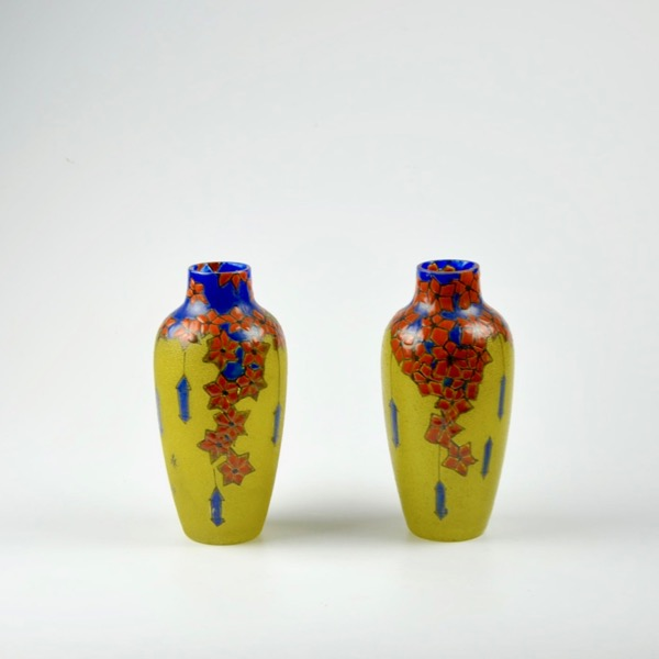 divine style french antiques leune french art deco pair vases 1