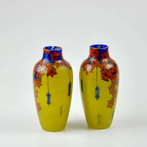 divine style french antiques leune french art deco pair vases 2