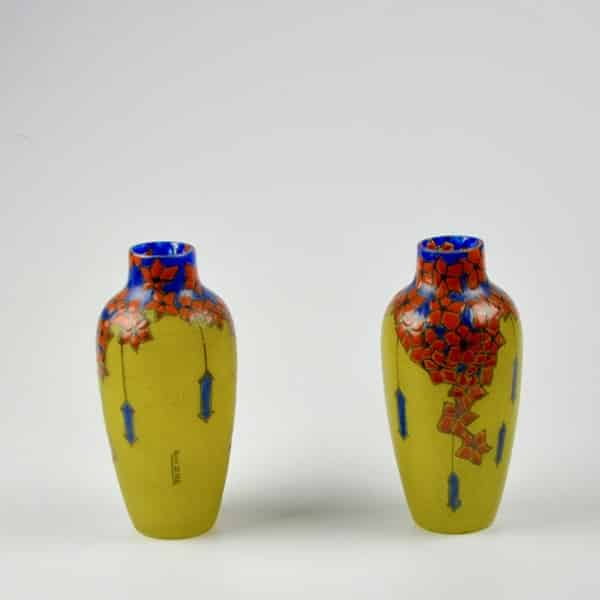 divine style french antiques leune french art deco pair vases