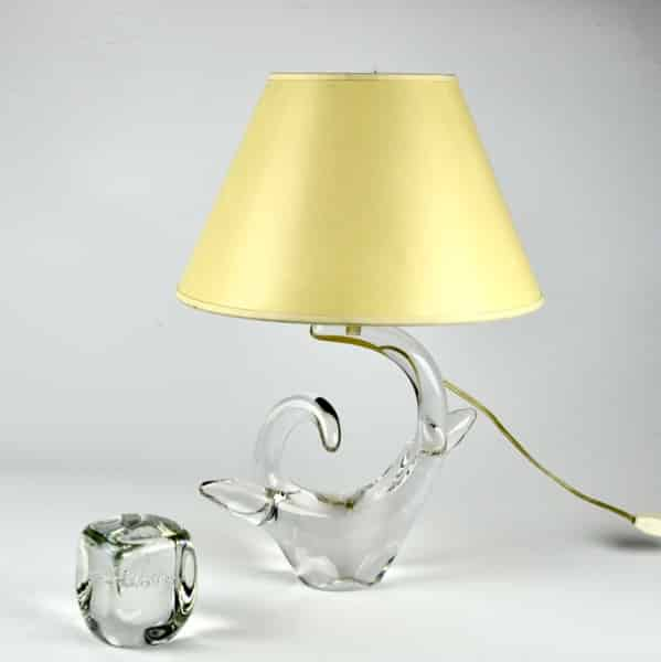 mid century schneider french crystal lamp 4