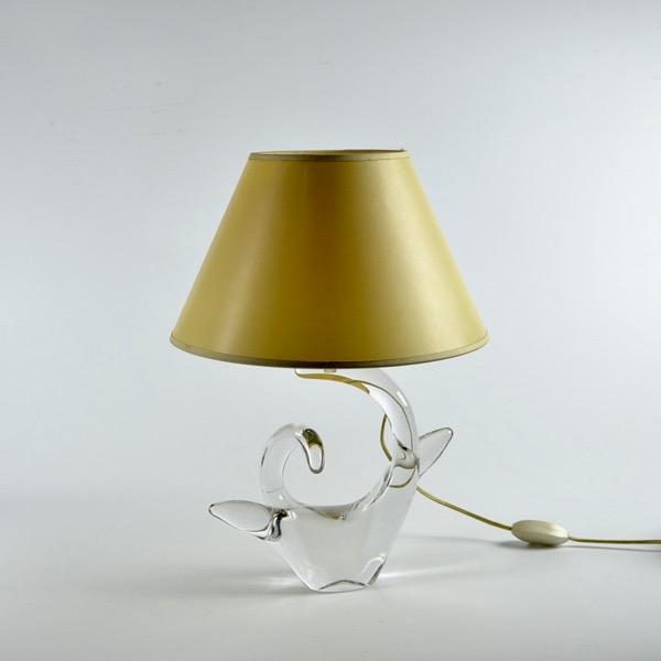 mid century schneider french crystal lamp