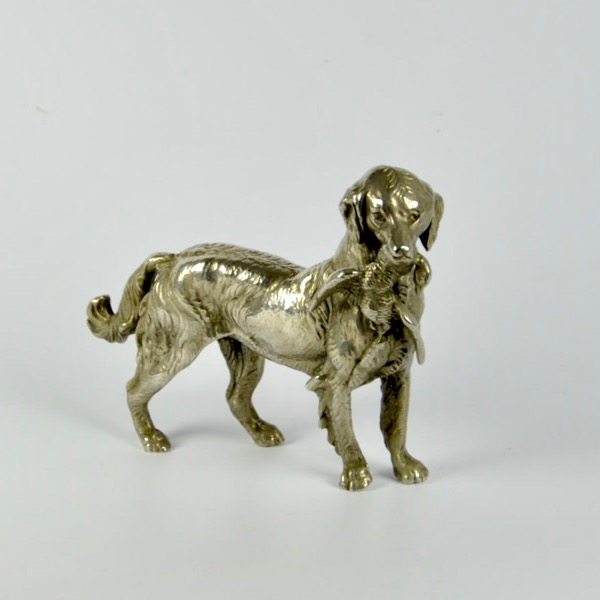 divine style french antiques bronze hunting dog statuette