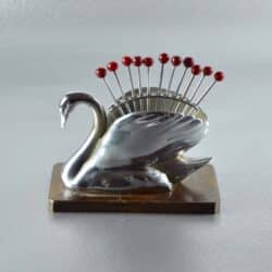 art deco swan cocktail stick set divine style french antiques
