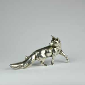 divine style french antiques bronze figurine fox