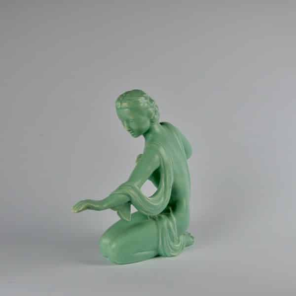 divine style french antiques french art deco statuette kneeling woman 3