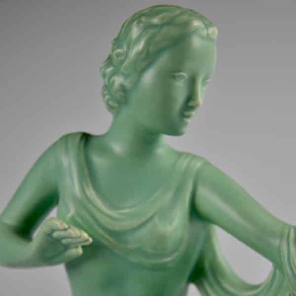 divine style french antiques french art deco statuette kneeling woman 8