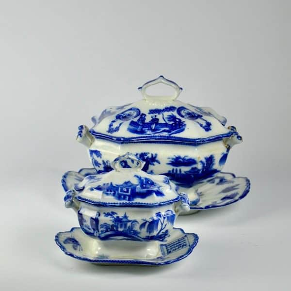 divine style french antiques johnston & vieillard 1850s faience tureens