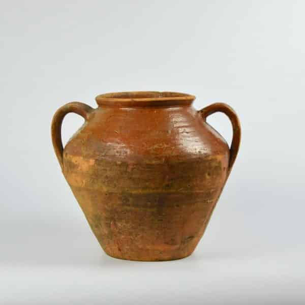 divine style french antique earthenware confit pot