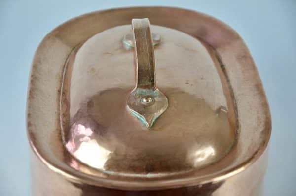 antiques 19th c french copper braiser 9