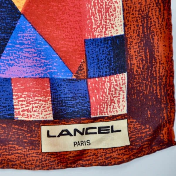 divine style french antiques vintage Lancel silk scarf 03