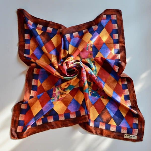 divine style french antiques vintage Lancel silk scarf 04