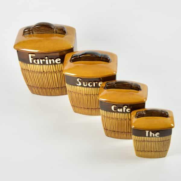 divine style french antiques Saint Clément Ceramic Spice Jars 1