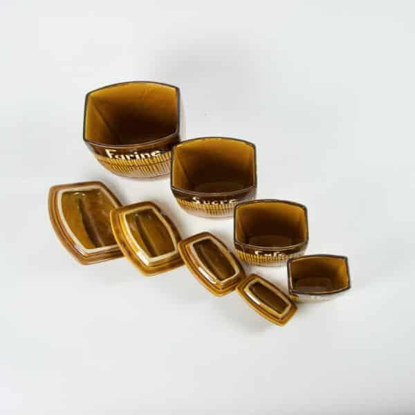 divine style french antiques Saint Clément Ceramic Spice Jars 2