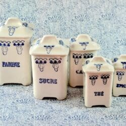 divine style french antiques vintage spice jars
