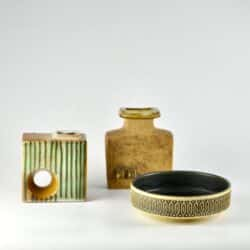 divine style french antiques brutalist pottery trio