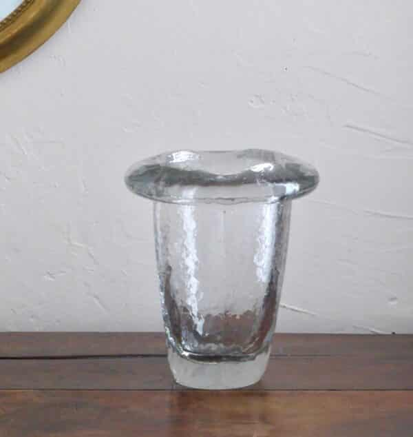 divine style french antiques Daum crystal crackle vase 1950s