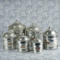 divine style french antiques spice jar set 2