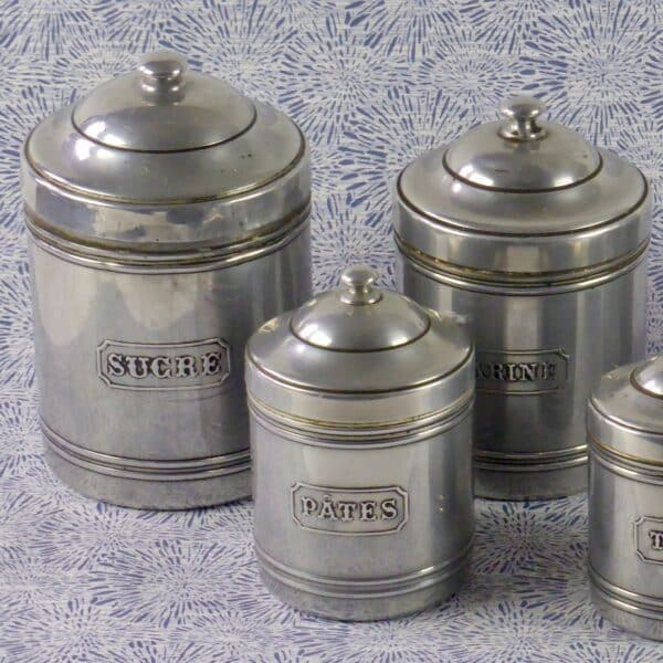 divine style french antiques vintage spice jar set 1